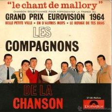 Discos de vinilo: EP LES COMPAGNONS DE LA CHANSON : EUROVISION 1964. Lote 43964277