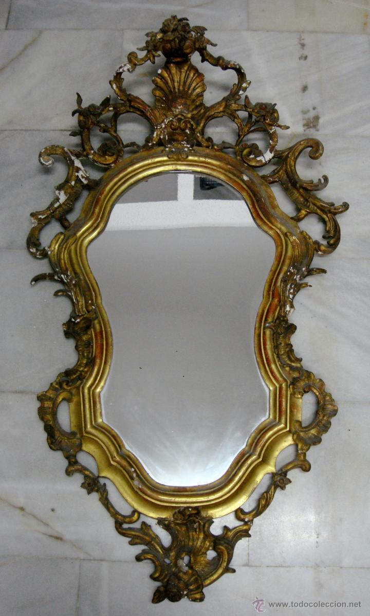 Antiguo Cornucopia O Espejo Dorado Made Comprar