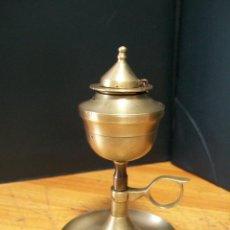 Antigüedades: CANDIL CAPUCHINA DE BRONCE. 1930. Lote 43966548