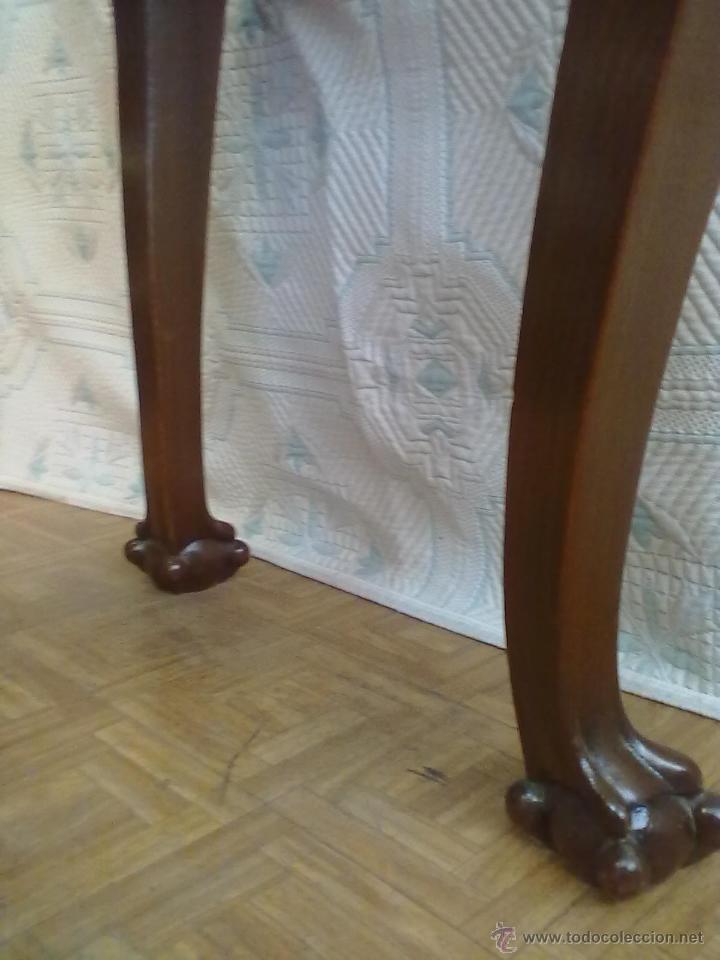 Antigüedades: MESA VITRINA EXPOSITOR MOSTRADOR CAOBA PATA GARRA - Foto 7 - 43972910