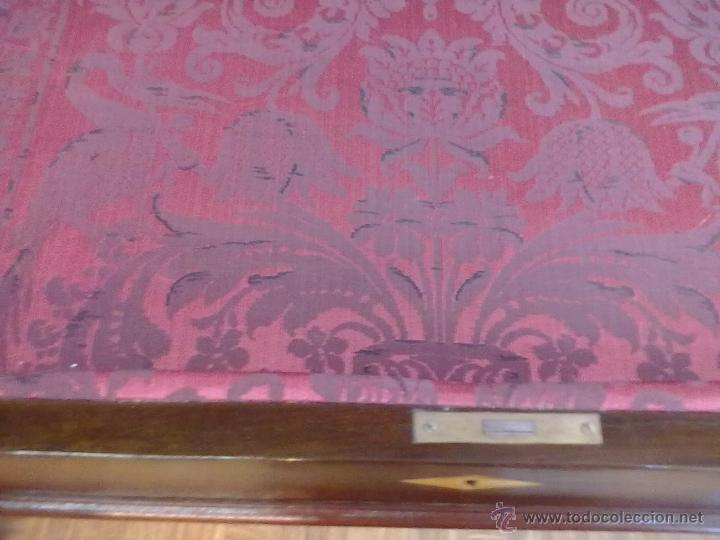 Antigüedades: MESA VITRINA EXPOSITOR MOSTRADOR CAOBA PATA GARRA - Foto 11 - 43972910