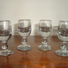 Antiquités: CUATRO COPITAS DE CRISTAL. Lote 43974209