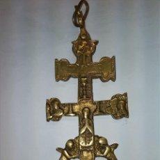 Antigüedades: ANTIGUA CRUZ DE CARAVACA DE BRONCE.. Lote 43978011