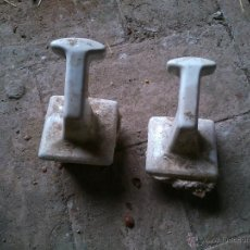 Antigüedades: COLGADORES GRANDES DE CERAMICA. Lote 43980675