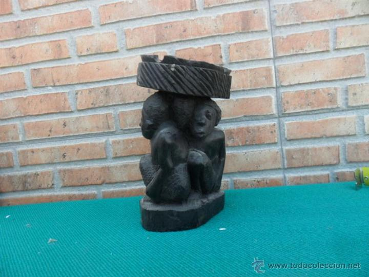 TALLA AFRINANA MADERA DE EBANO (Antigüedades - Hogar y Decoración - Otros)