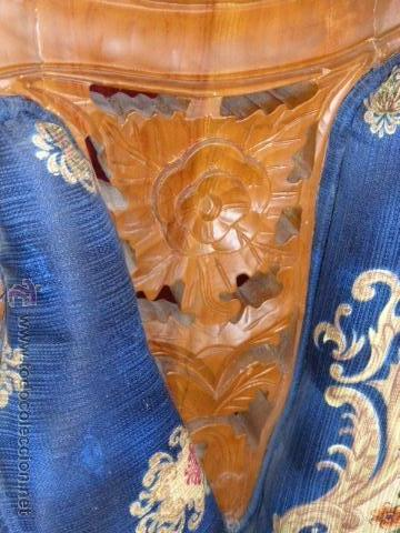 Antigüedades: SILLA, SILLON O BUTACA DE MADERA TALLADA CON TAPICERIA FLORAL EN PERFECTO ESTADO - Foto 3 - 43985633