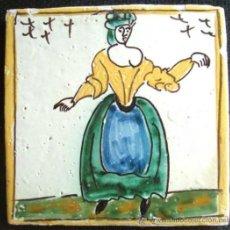 Antigüedades: AUTENTICO AZULEJO CATALAN DE LOS LLAMADOS ARTES Y OFICIOS S XIX. Lote 43992581