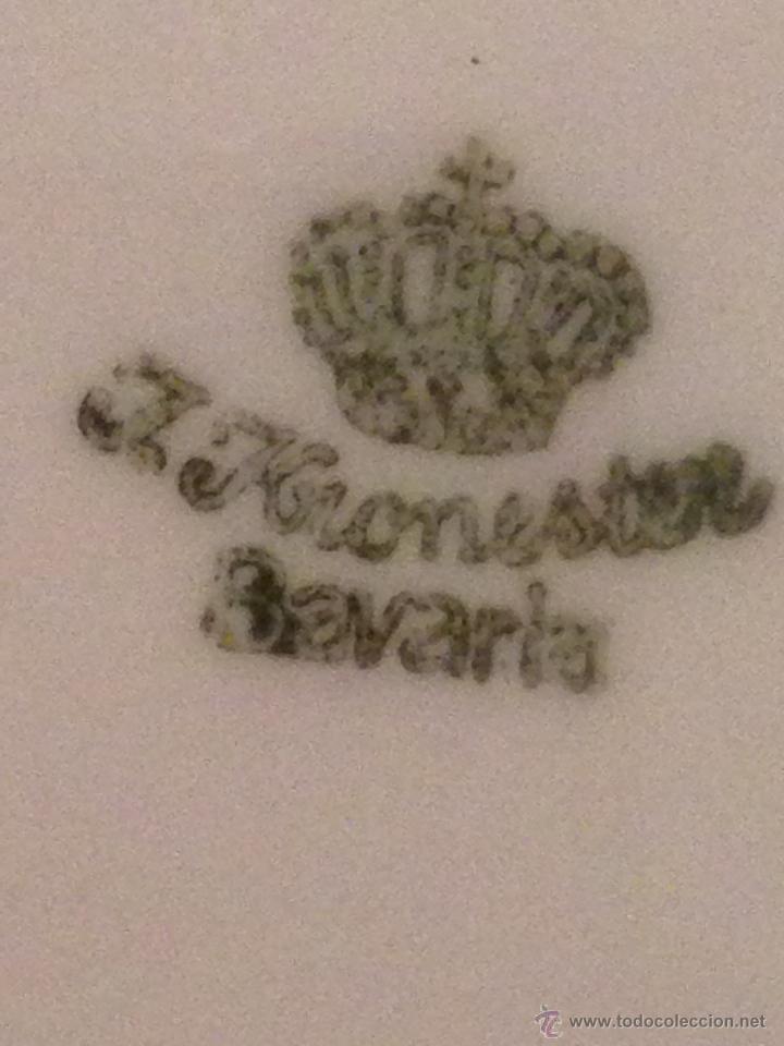 Antigüedades: Fuente de porcelana Bavaria. Sellada Kronester. Numerada - Foto 3 - 43993174
