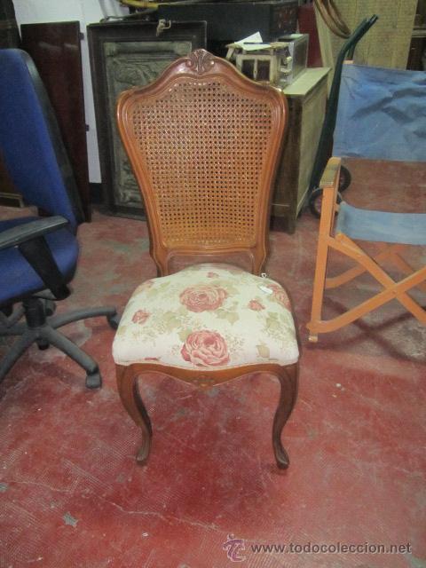 Silla con asiento tapizado y respaldo de rejill comprar for Sillas respaldo tapizado