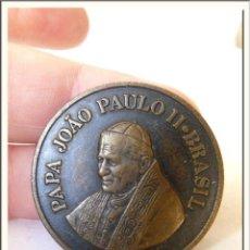 Antigüedades: MEDALLA BRASILEÑA 1980 PAPA JUAN PABLO II. Lote 44014952