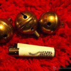 Antigüedades: LOTE DE 3 CASCABELES DE BRONCE ENORMES. Lote 79063958