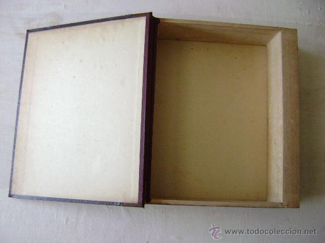 Antigüedades: CAJA DE MADERA EN FORMA DE LIBRO - Foto 3 - 44022040