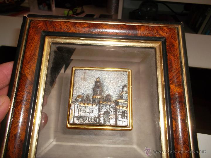 CUADRO Y CASTILLO EN PLATA (Antigüedades - Plateria - Varios)