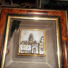 Antigüedades: CUADRO Y CASTILLO EN PLATA. Lote 53546507