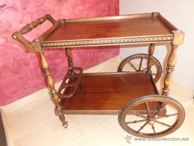 Camarera licorera o carrito de servir antiguo comprar for Carrito camarera carrefour