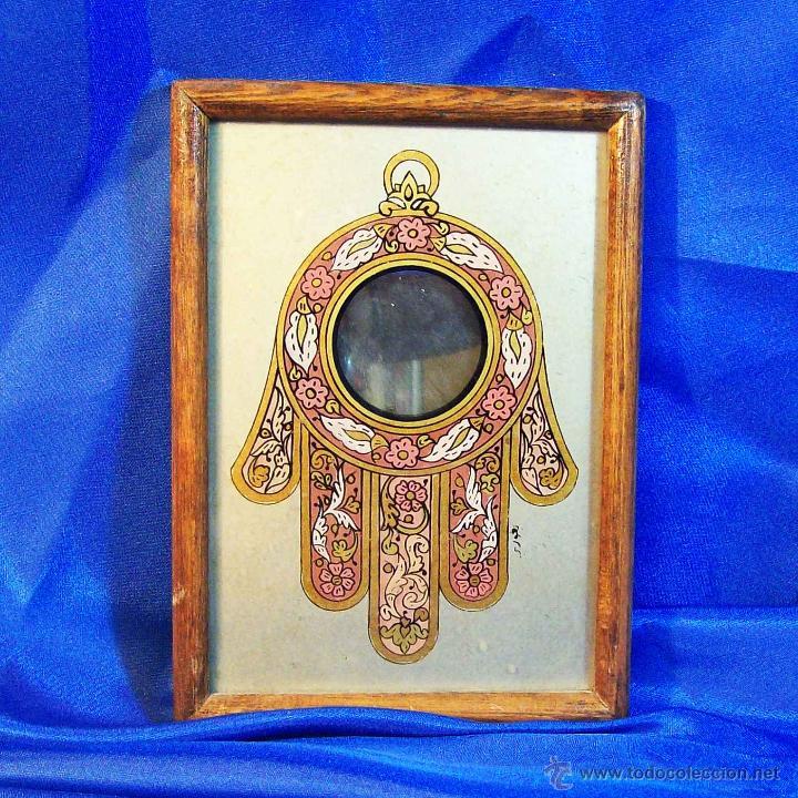 impresionante amuleto mano de fatima en cristal - Comprar ...