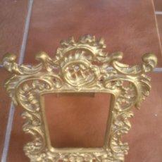 Antigüedades: ANTIGUO MARCO PORTAFOTOS MODERNISTA. EN DORADO. Lote 44049790