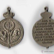Antigüedades: MEDALLA HERMANDAD CRISTO EXPIRACION MAYOR DOLOR NTRA SRA ESPERANZA HUELVA. Lote 44053281