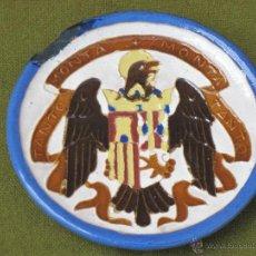 Antigüedades: PLATITO ANTIGUO DE CERAMICA A LA CUERDA SECA. VICENTE QUISMONDO. C.1960 - TOLEDO.. Lote 44062593