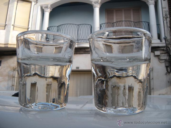 VASO DE ENGAÑO, LOTE DE 2. PESAN 1.400 GRAMOS (Antigüedades - Cristal y Vidrio - Santa Lucía de Cartagena)