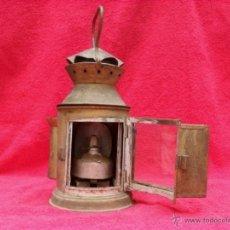 Antigüedades: ANTIGUO FAROL TREN,ESPAÑOL,MUCHAS FOTOS MIRALO. Lote 44074210