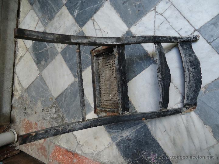 Antigüedades: antigua silla madera tallada para restaurar, - silla - talla pan de oro - o pintada mano - Foto 3 - 44086758