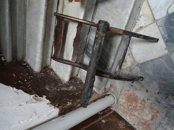 Antigüedades: antigua silla madera tallada para restaurar, - silla - talla pan de oro - o pintada mano - Foto 8 - 44086758