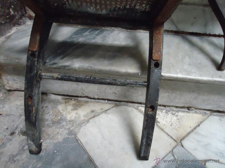 Antigüedades: antigua silla madera tallada para restaurar, - silla - talla pan de oro - o pintada mano - Foto 16 - 44086758