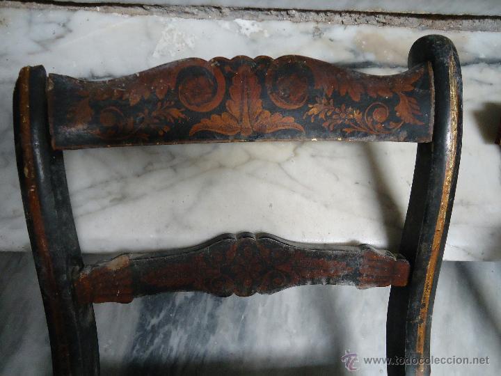Antigüedades: antigua silla madera tallada para restaurar, - silla - talla pan de oro - o pintada mano - Foto 22 - 44086758
