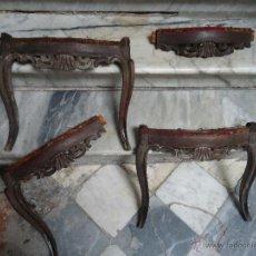 Antigüedades: ANTIGUAS SILLAS MADERA TALLADA PARA RESTAURAR, - SILLA - TALLA - 4 FRONTALES TALLADOS . Lote 44086798