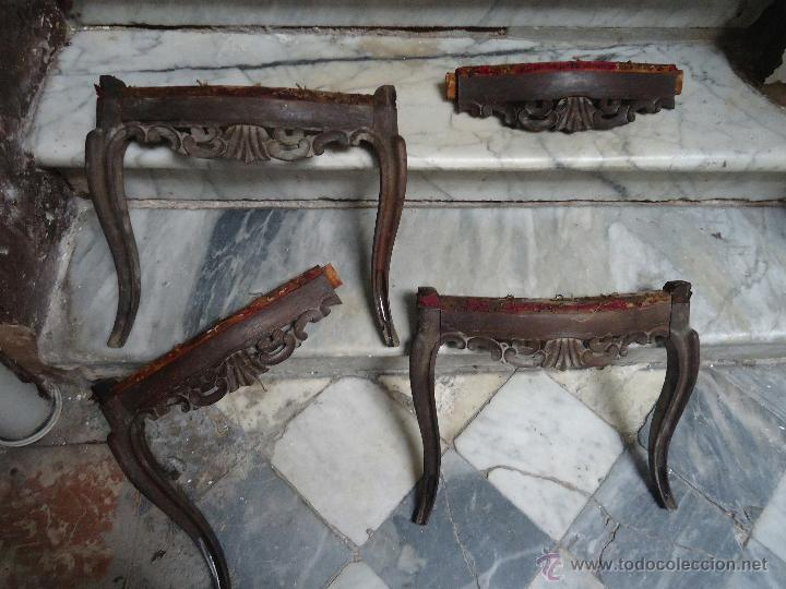 Antigüedades: antiguas sillas madera tallada para restaurar, - silla - talla - 4 frontales tallados - Foto 16 - 44086798