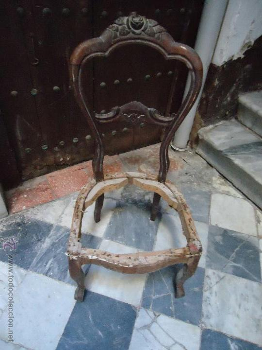 Antigua silla madera tallada para restaurar comprar - Restaurar sillas antiguas ...