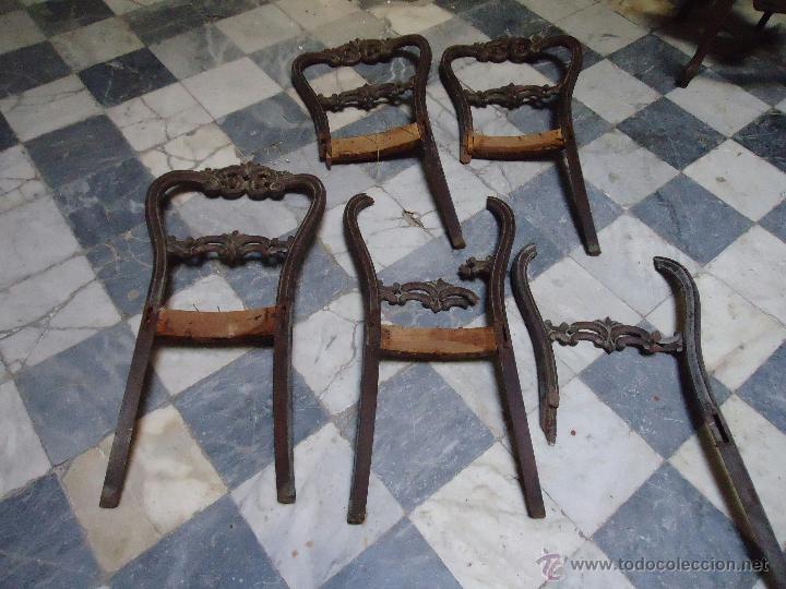 Antigüedades: lote de antiguas sillas madera tallada para restaurar, - silla - talla - caoba - Foto 3 - 44087406