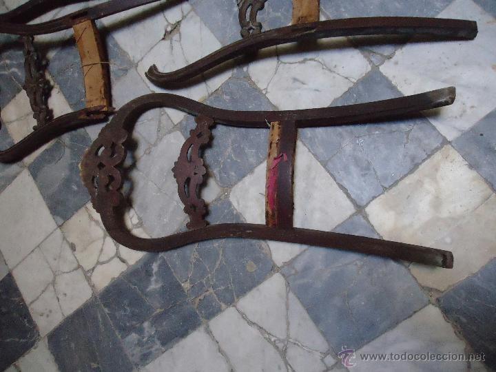 Antigüedades: lote de antiguas sillas madera tallada para restaurar, - silla - talla - caoba - Foto 4 - 44087406