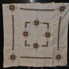 Antigüedades: MANTEL DE TE DE HILO Y ENCAJES. Lote 44088729