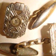 Antigüedades: GEMELOS DE CABALLERO ANTIGUOS. Lote 44092449