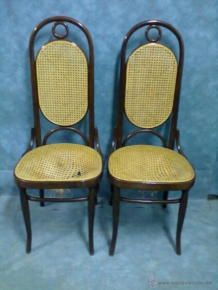 Pareja de sillas rejilla sin epoca estilo thone comprar sillas antiguas en todocoleccion - Venta de muebles antiguos para restaurar ...