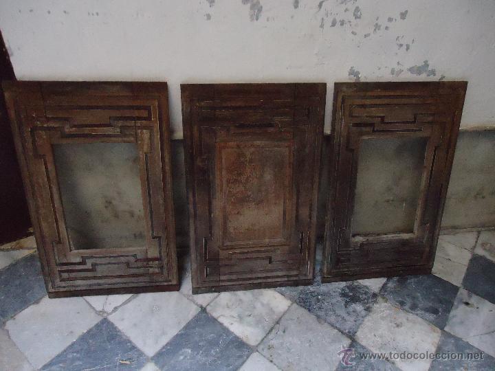 3 magnificas puertas madera taracea caoba ideal comprar - Restaurar armarios antiguos ...