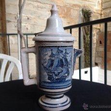 Antigüedades: ANTIGUA JARRA CERÁMICA ESMALTADA. Lote 44112103