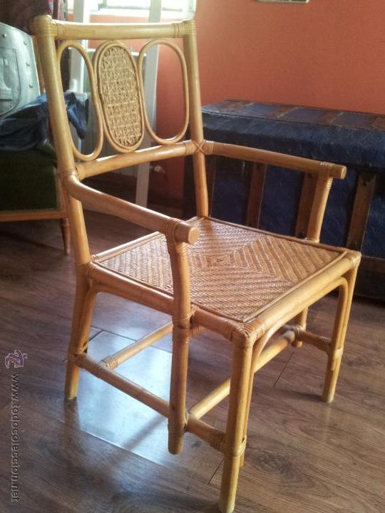 Silla de ca a bambu comprar sillas antiguas en - Sillas de bambu ...