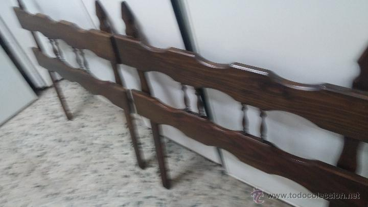 Pareja de cabeceros antiguos en madera madera p comprar en todocoleccion 44120064 - Cabeceros de cama antiguos ...