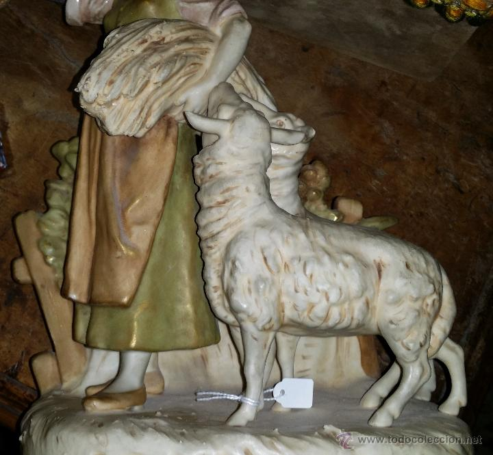 Antigüedades: PORCELANA CHECA AÑOS 20-30 ROYAL DUX,MOTIVO PASTORIL - Foto 3 - 44136611