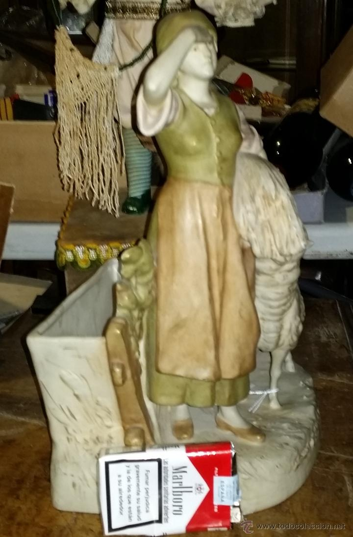 Antigüedades: PORCELANA CHECA AÑOS 20-30 ROYAL DUX,MOTIVO PASTORIL - Foto 5 - 44136611
