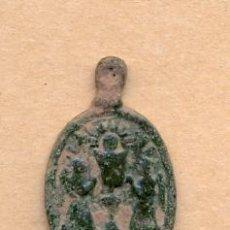 Antigüedades: BRO 138 - ANCIENT MEDIEVAL BRONZE MEDAL RELIGIOUS OR COPPER LEYENDA ROMA MEDALLA MEDIEVAL EN BRONC. Lote 44141025