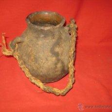 Antigüedades: BONITO JARRÓN DE BARRO CON ASAS.. Lote 44161518