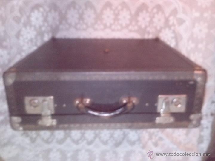 Antigüedades: ANTIGUA MALETA CUADRADA DE PARIS MALLER TITAN MALARD - Foto 6 - 63134098