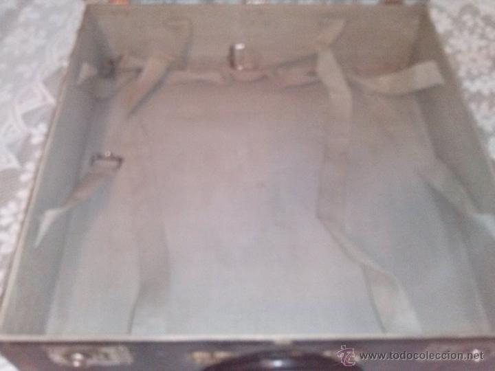 Antigüedades: ANTIGUA MALETA CUADRADA DE PARIS MALLER TITAN MALARD - Foto 11 - 63134098