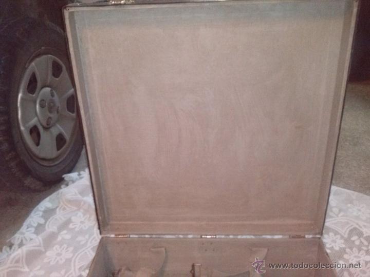 Antigüedades: ANTIGUA MALETA CUADRADA DE PARIS MALLER TITAN MALARD - Foto 12 - 63134098