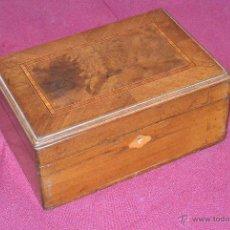 Antigüedades: CAJA DE MUSICA VICTORIANA, CAOBA Y MARQUETERIA.. Lote 44164795