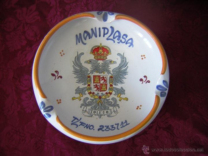 ** GRAN CENICERO DE TALAVERA ** (Antigüedades - Porcelanas y Cerámicas - Talavera)